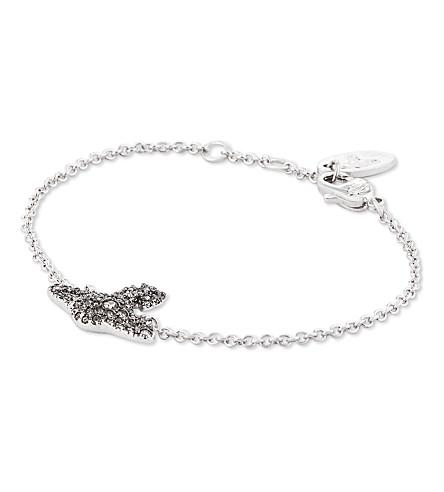 VIVIENNE WESTWOOD JEWELLERY Grace orb sterling silver bracelet (Blackdiamond