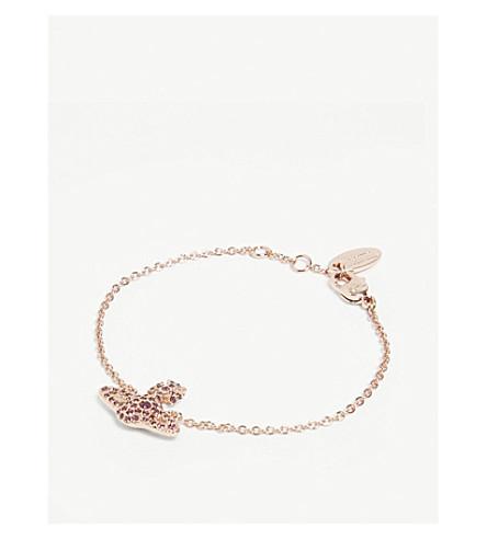 VIVIENNE WESTWOOD JEWELLERY Grace Bas Relief pavé orb bracelet (Amethyst
