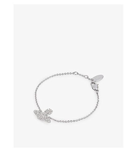 VIVIENNE WESTWOOD JEWELLERY Grace Bas Relief pavé orb bracelet (Crystal/rhodium