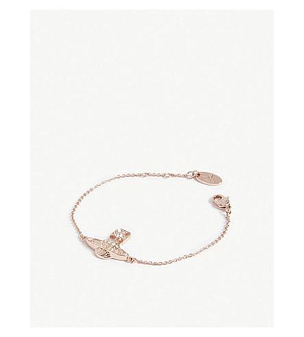 VIVIENNE WESTWOOD 珠宝米妮 Bas Relief 手链 (水晶/粉红色 + 金色