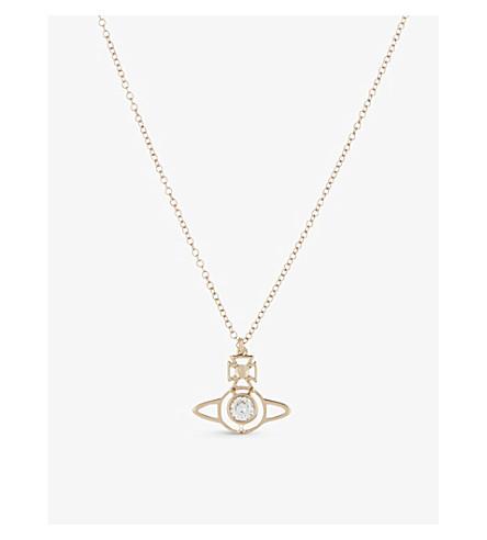 VIVIENNE WESTWOOD JEWELLERY Nora Orb pendant (Whte+cubic+zirc/pink+gld