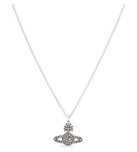 VIVIENNE WESTWOOD JEWELLERY Orb sterling silver necklace (Blackdiamond
