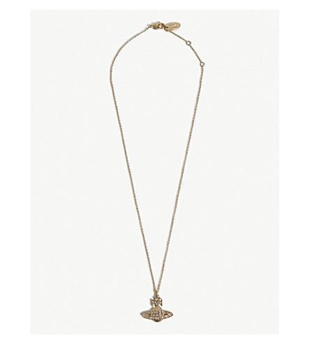 VIVIENNE WESTWOOD JEWELLERY Minnie Orb pendant necklace (Crystal/gold