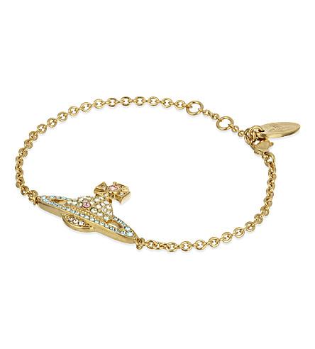 VIVIENNE WESTWOOD JEWELRY Kika pavé orb bracelet (Yellow+gold