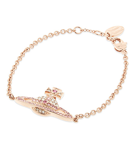 VIVIENNE WESTWOOD JEWELLERY Kika Saturn Orb bracelet (Crystal/rose/pink+gold