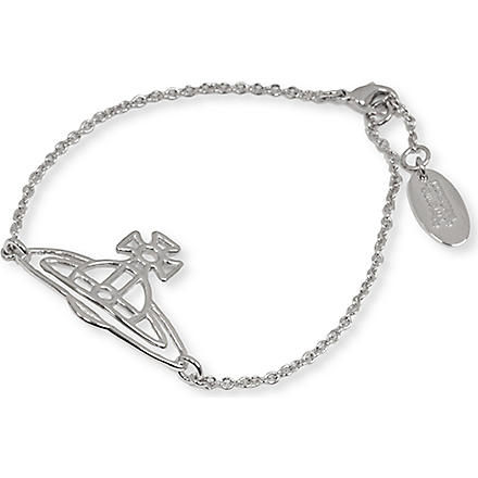 VIVIENNE WESTWOOD JEWELLERY Thin lines flat orb bracelet (Silver