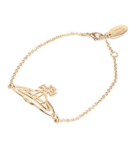 VIVIENNE WESTWOOD JEWELLERY Thin lines flat orb bracelet (Gold