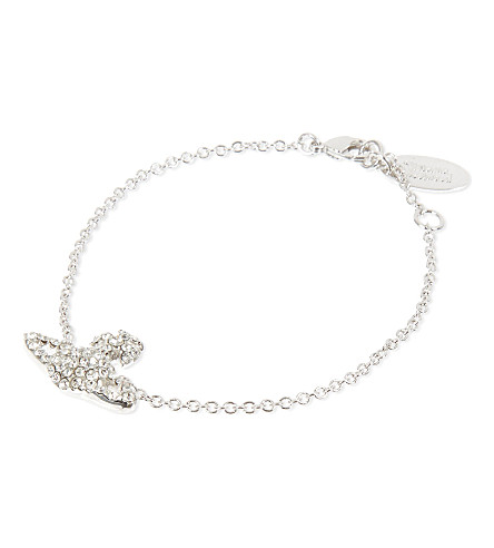 VIVIENNE WESTWOOD JEWELLERY Grace Bas Relief bracelet (Crystal/rhodium
