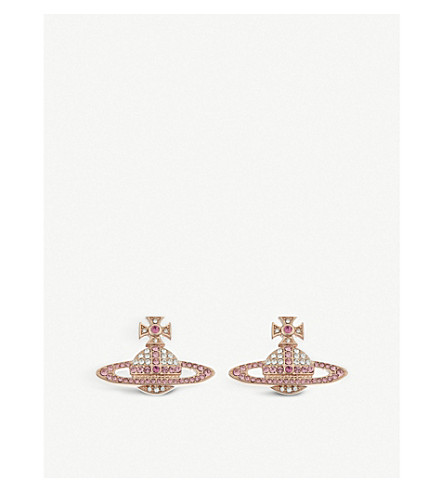 VIVIENNE WESTWOOD JEWELLERY Kika stud earrings (Pink+gold
