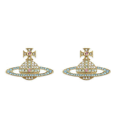 VIVIENNE WESTWOOD JEWELLERY Kika stud earrings (Yellow+gold