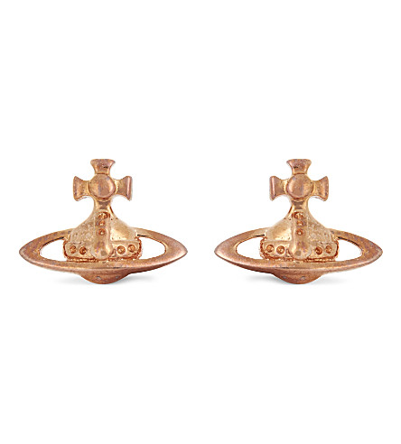 VIVIENNE WESTWOOD JEWELRY Lorelei orb stud earrings (Pink+gold
