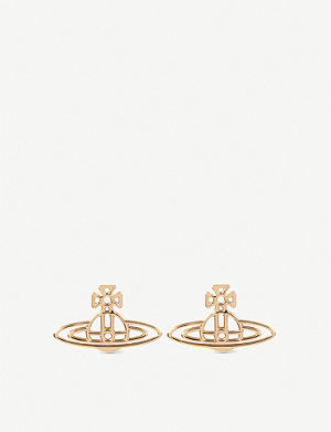VIVIENNE WESTWOOD JEWELLERY Thin lines flat orb stud earrings