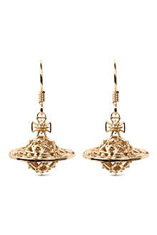 VIVIENNE WESTWOOD Mabel orb gold-plated drop earrings