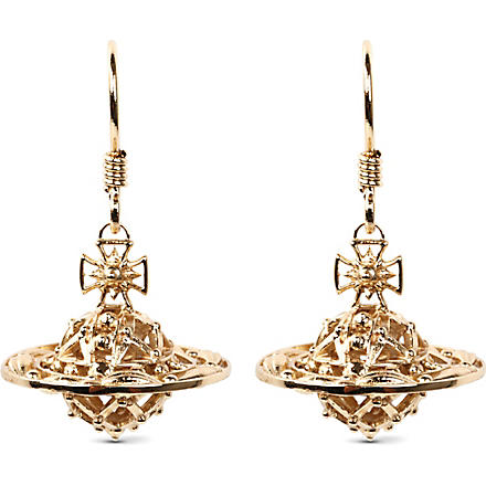 VIVIENNE WESTWOOD Mabel orb gold-plated drop earrings (Gold