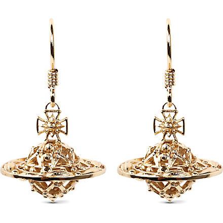 VIVIENNE WESTWOOD Mabel orb gold-plated drop earrings (Gold