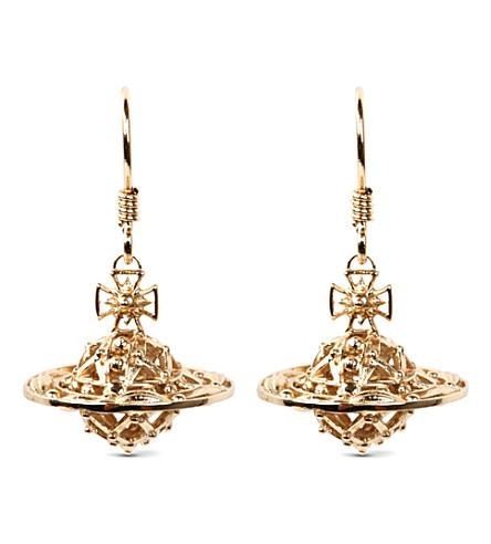 VIVIENNE WESTWOOD JEWELLERY Mabel orb gold-plated drop earrings (Gold