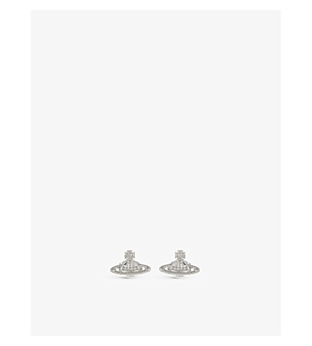 VIVIENNE WESTWOOD JEWELRY Farah earrings (Rhodium