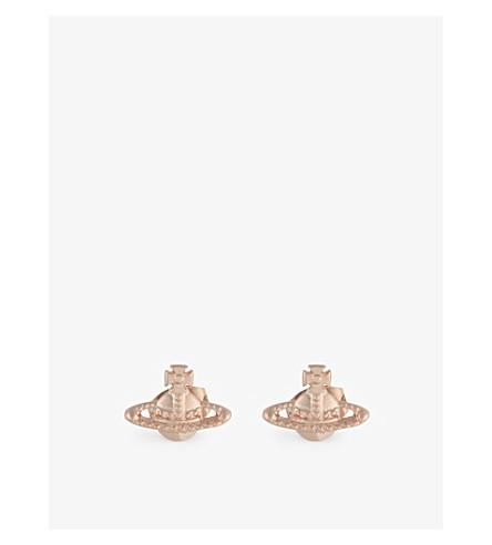VIVIENNE WESTWOOD 珠宝法拉耳环 (粉红色 + 金色