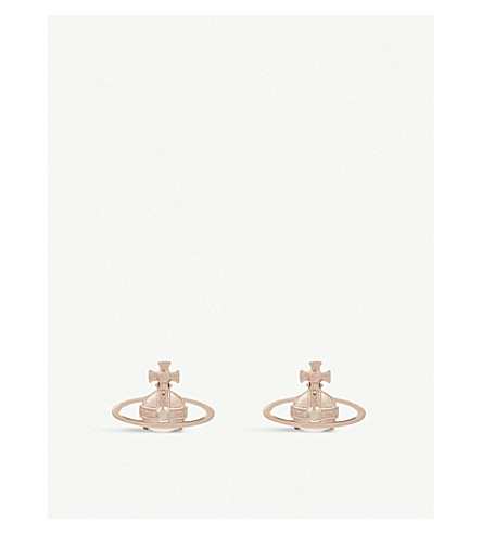 VIVIENNE WESTWOOD JEWELRY Suzie orb earrings (Pink+gold