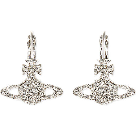 VIVIENNE WESTWOOD Grace Bas Relief earrings (Crystal/rhodium