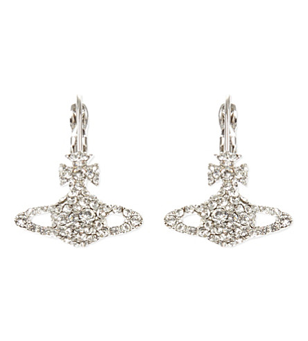 VIVIENNE WESTWOOD JEWELLERY Grace Bas Relief earrings (Crystal/rhodium