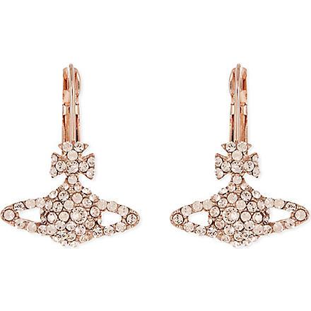 VIVIENNE WESTWOOD Grace Bas Relief earrings (Silk/pink gold