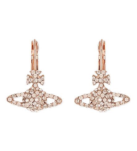 VIVIENNE WESTWOOD JEWELLERY Grace Bas Relief earrings (Silk/pink gold