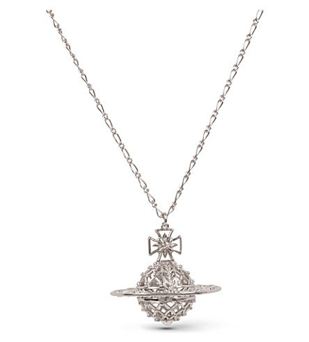 VIVIENNE WESTWOOD JEWELLERY Mabel orb palladium-plated pendant necklace (Silver