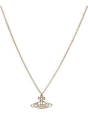 VIVIENNE WESTWOOD JEWELLERY Thin lines flat orb pendant necklace
