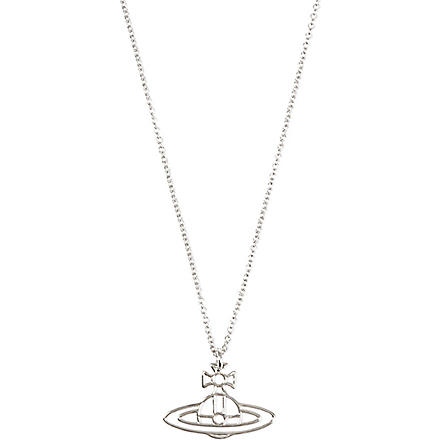VIVIENNE WESTWOOD JEWELLERY Thin Lines Orb pendant (Palldium