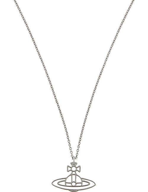 VIVIENNE WESTWOOD JEWELLERY Thin Lines flat orb necklace