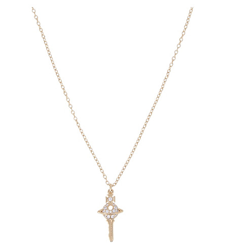 VIVIENNE WESTWOOD JEWELLERY Darianne small Orb key necklace (Gold