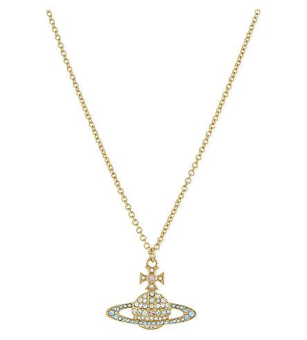 VIVIENNE WESTWOOD JEWELRY Kika Saturn Orb pendant (Aqumrne/crysolite/gold