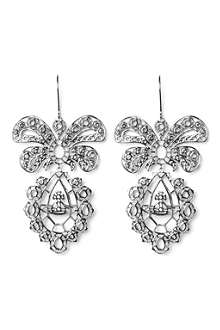 VIVIENNE WESTWOOD Gainsborough palladium long drop earrings