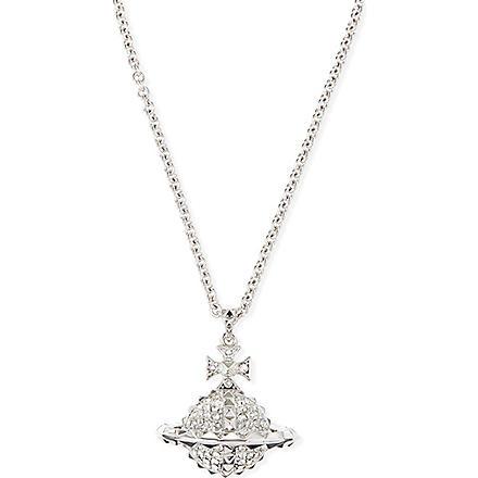 VIVIENNE WESTWOOD JEWELLERY Mayfair large orb pendant necklace (Crystal/rhodium