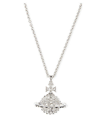 VIVIENNE WESTWOOD JEWELLERY Mayfair large orb pendant necklace (Crystal/rhodium