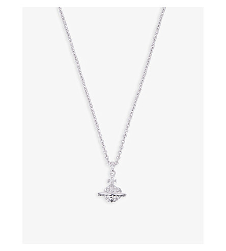VIVIENNE WESTWOOD JEWELRY Mayfair Bas Relief necklace (Crystal/rhodium