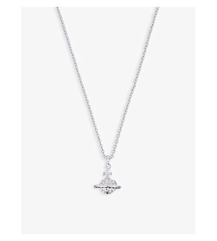 VIVIENNE WESTWOOD 珠宝首饰美景浮雕项链 (水晶/铑