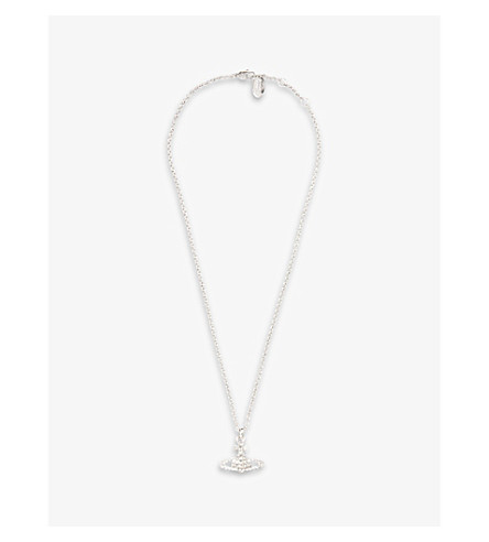 ... VIVIENNE WESTWOOD JEWELLERY Mayfair bas relief pendant  (Crystal/rhodium. PreviousNext