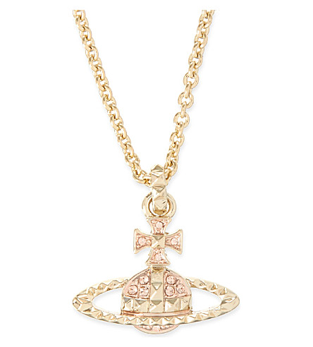 VIVIENNE WESTWOOD JEWELLERY Mayfair bas relief pendant necklace (Peach/rose gold