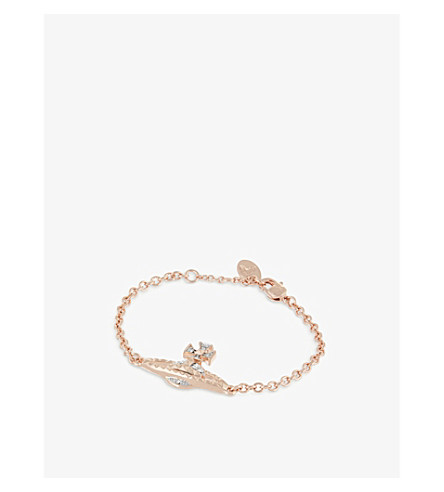 VIVIENNE WESTWOOD JEWELLERY Mayfair Bas Relief bracelet (Pink+gold/rhodium