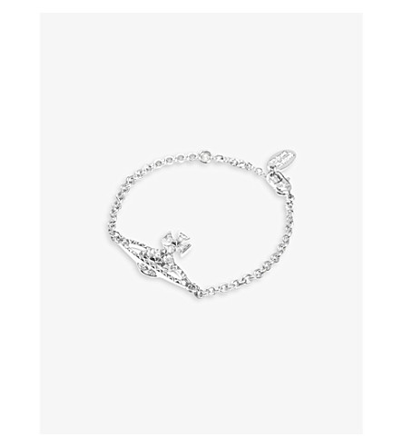 VIVIENNE WESTWOOD JEWELLERY Mayfair Bas Relief bracelet (Crystal/rhodium