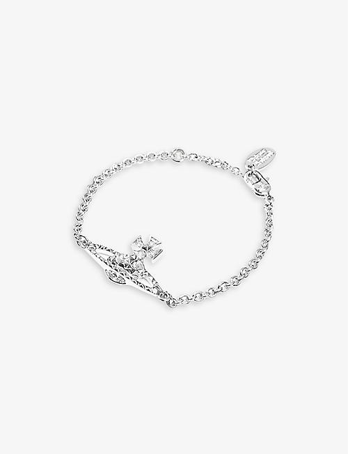 Vivienne Westwood Bracelet for Women, Silver, Rhodium, 2017, One Size