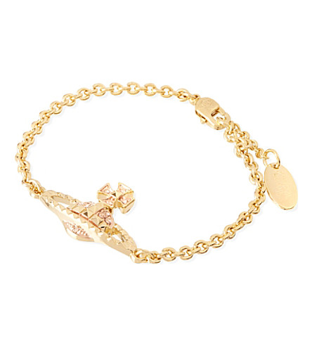 VIVIENNE WESTWOOD JEWELLERY Mayfair bas relief bracelet (Peach/rose gold
