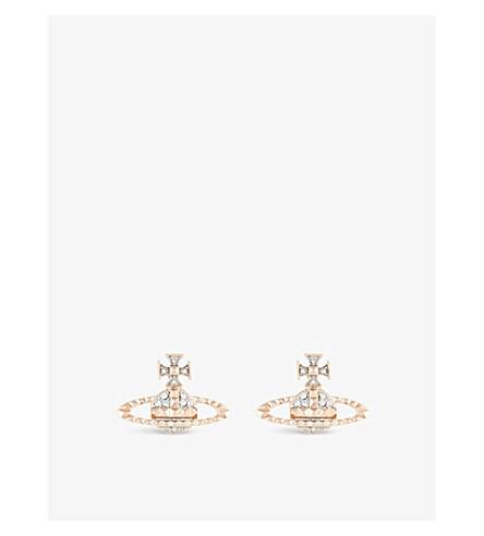 VIVIENNE WESTWOOD JEWELLERY Mayfair Bas Relief earrings (Pink+gold/rhodium