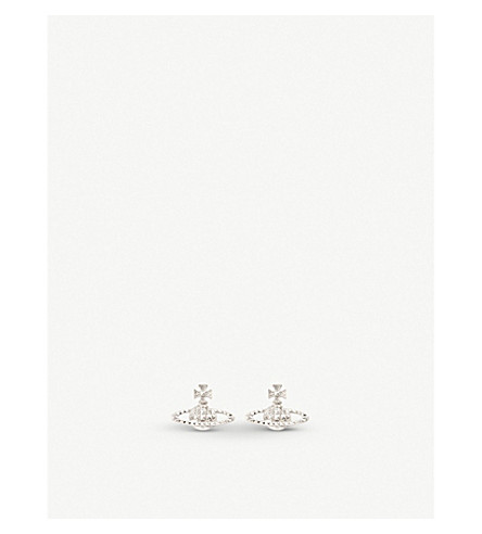 VIVIENNE WESTWOOD JEWELLERY Mayfair bas relief earrings (Crystal/rhodium