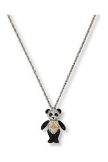 VIVIENNE WESTWOOD Panda diamante pendant necklace