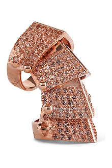 VIVIENNE WESTWOOD Armour pavé ring