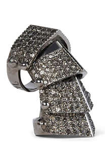 VIVIENNE WESTWOOD JEWELLERY Armour pavé ring