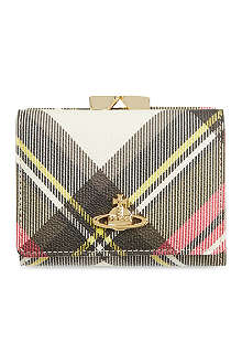 VIVIENNE WESTWOOD Check Derby frame purse